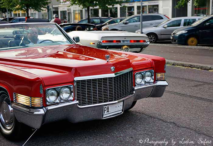 Greeting card Cadillac Oldtimer