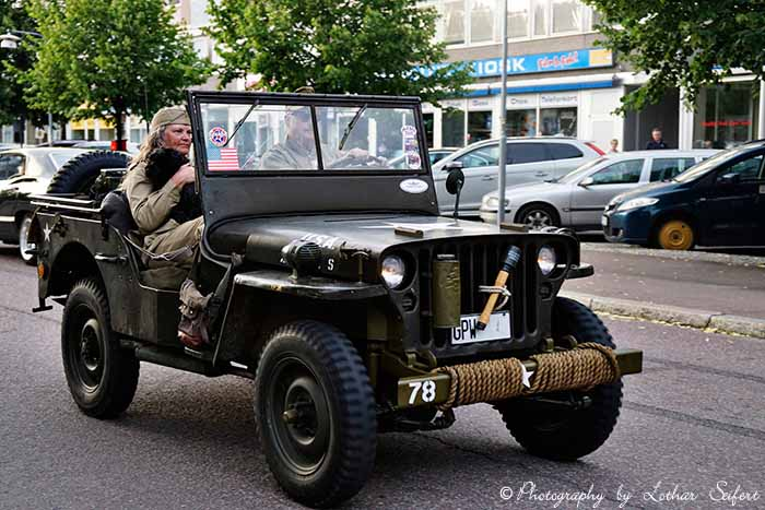 Bild Grußkarte Jeep Willys