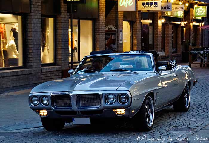 Greeting card Pontiac Firebird RegardsCabrio