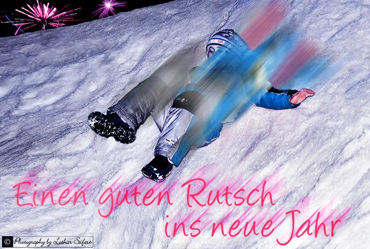 Greeting card Prost Neujahr