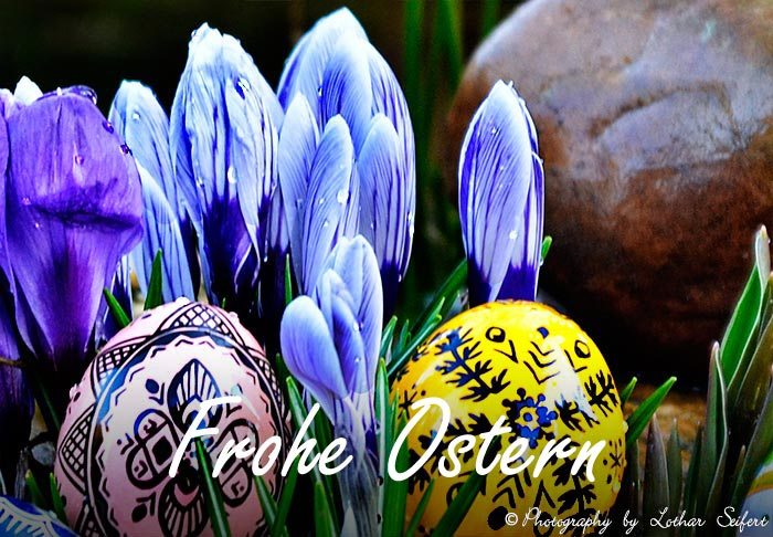 Greeting card Frohe Ostern