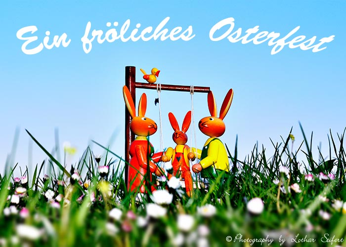 Greeting card Grusskarten Ostern