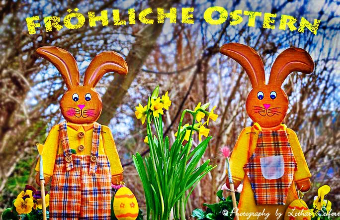 Greeting card Osterhasen