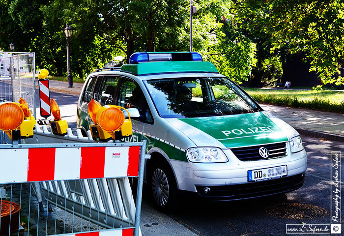 Greeting card Polizeiwagen