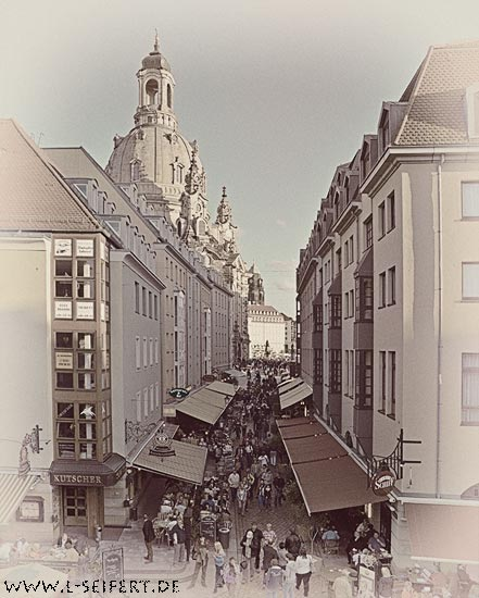Greeting card Dresden Muenzgasse