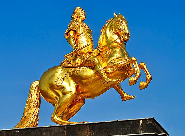 Der Goldene Reiter Dresden Ist Der Goldene Reiter