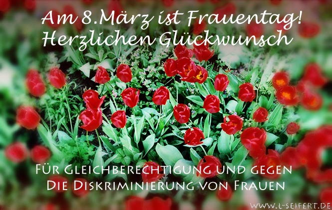 Greeting card Glueckwunschkarte Frauentag