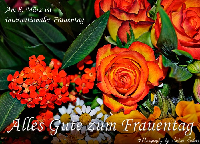 Greeting card Greetings. zum Frauentag