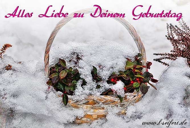 Geburtstagsgruss Im Winter Fur Die Geburtstagskinder Die Im Winter