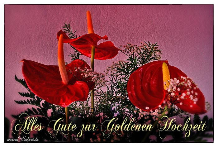 Greeting card Goldene Hochzeit Greetings.