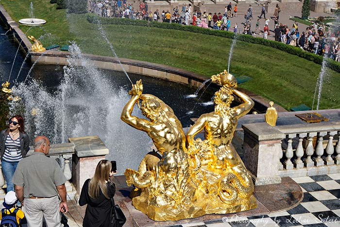 Greeting card Vergoldete Figuren Peterhof