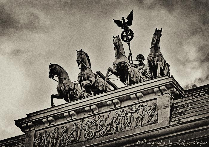 Greeting card Quadriga Berlin